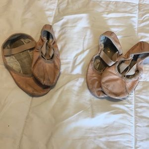 2 pairs of Bloch ballet slippers